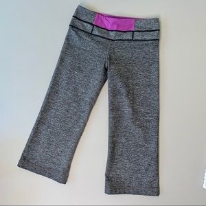 Lululemon Charcoal Heather Gray Cropped Leggings